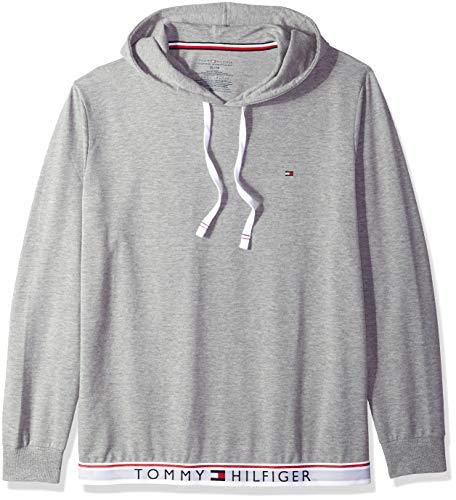 Tommy Hilfiger Men's Modern Essentials French Terry Sleepwear Hoodie, Heather, Large