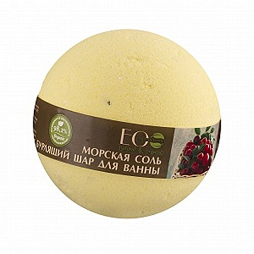 EO Laboratorie Natural & Organic Bath Bomb Cranberry, Salt & Blackcurrant 220g
