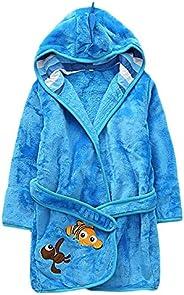 Baby Boys Girls Cartoon Bathrobe Soft Coral Fleece Robes Kids Muticolored Sleepwear Pajamas Outfit 1-6T