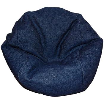 Amazon Com Ahh Products Denim Dark Blue Bean Bag Chair