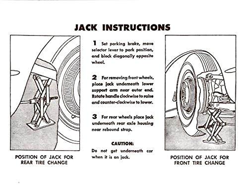 Download 1957 1958 1959 1960 Corvette Jacking Instructions Sticker - Decal PDF