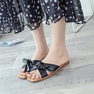 ITTXTTI Sra. Sandalias Zapatillas Hembra Plana Desgaste del Verano Moda Arco Fresco Sandalias Salvaje Simple Playa Zapatos