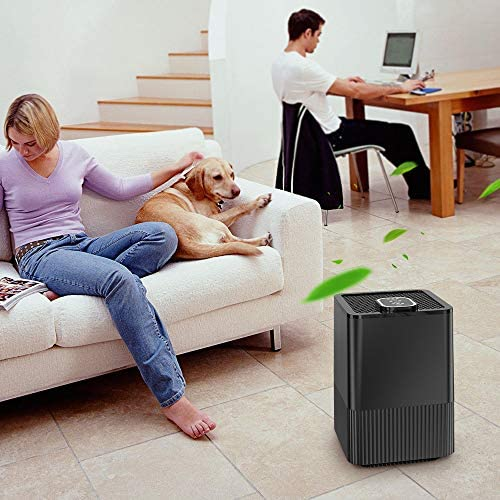 NBN 4 in 1 Air Purifier Filter with Pre-Filter, True HEPA Filter, Activated Carbon Filter and Cotton Filter for HuanQ black Air Purifier