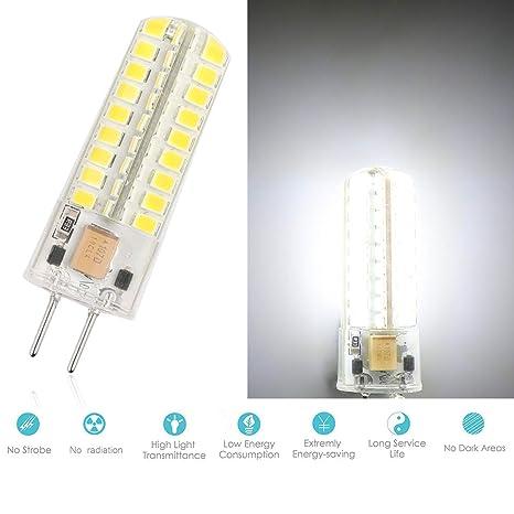 72 Silicium Pour Ourleeme 7w Froid Home Équivalent Blanc 60w 12v 35 Ampoule Led Lampe Halogène Luminaires Boutique Smd2835 Bureau G6 80wknOP