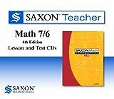 Saxon Math 7/6 Homeschool: Saxon Teacher CD ROM 4th Edition