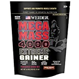 Weider Megamass 4000 Extreme Gainer - Our Best Selling Gainers - 50 Grams of Protein per Serving - Over 1,200 Calories - Over 250 Grams of Carbs