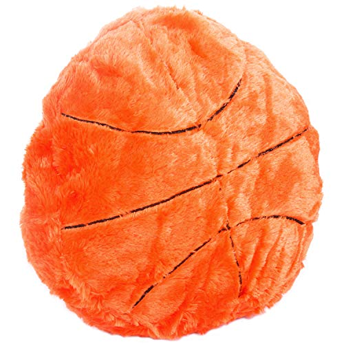 CatchStar Basketball Pillow Fluffy Plush Basketball Stuffed Toy Sports Ball Throw Pillow Soft Durable Sports Toy Gift for Kids Room Decoration Winter Style ()