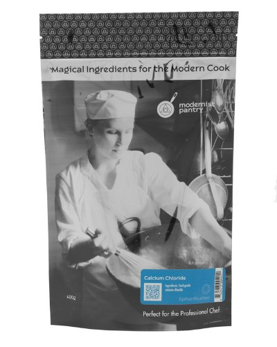 Food Grade Calcium Chloride (Molecular Gastronomy) ⊘ Non-GMO ☮ Vegan ✡ OU Kosher Certified - 400g/14oz