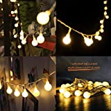100 LED Globe String Lights, Kohree Ball Fairy Light, 33Ft Waterproof Remote Timer Starry Light for Holiday, Wedding, Party- Warm White, UL Power Supply