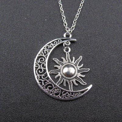 collier lune soleil