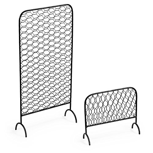 MyGift Metal Chicken Wire Earring Organizer Racks, Set of 2 by MyGift (Image #2)