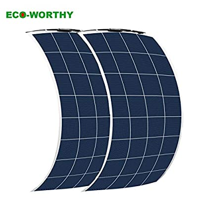ECO-WORTHY 2Pcs 150W Bendable PV Solar Panel Module for RV, Trucks, Camping(300W Total)