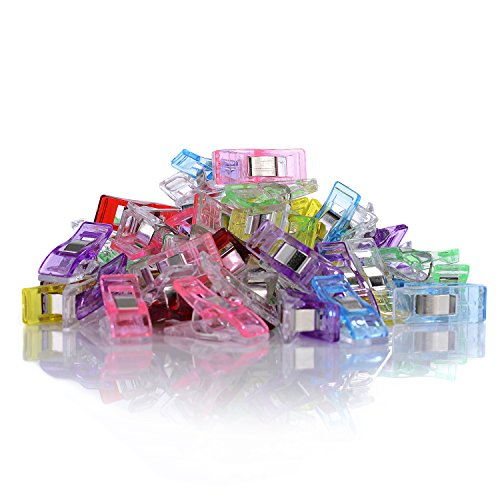 GWHOLE Pack of 60 Wonder Clips for Sewing Quilting Crafting