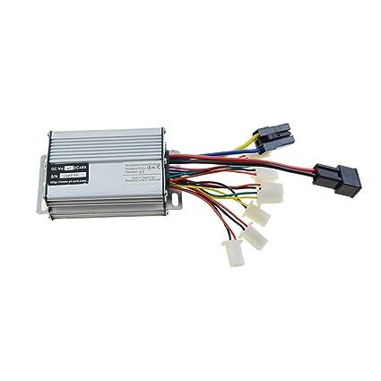 WOOSTAR - Controlador con terminal de conector de batería negra, 48 V, 1000 W, para scooter, motor eléctrico cepillado