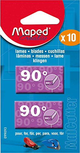(Maped MatCutter 90 Degree Replacement Blades for Straight Cuts, 10 Steel Blades per Pack (099093))