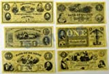 Civil War Currency Set of 18