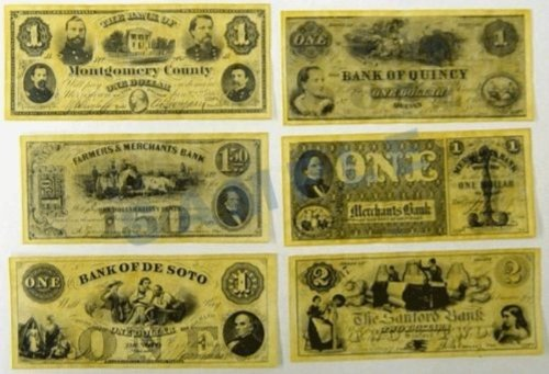 Civil War Currency - Union States Currency