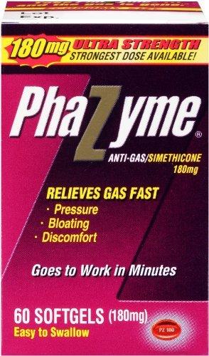 (3 pack) -Phazyme gélules Ultra Force, 180mg, 60 comte, chaque