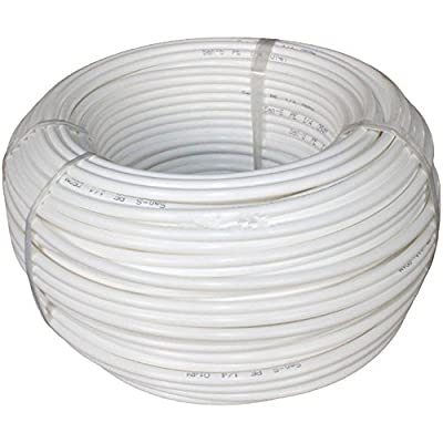 "20m 1/4"" Tube Tubing Hose Pipe for RO Water Filter System white PE"