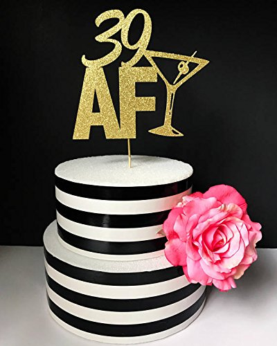 Any Age AF Cake Topper 39 30 Dirty Thirty