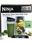 Two 24 oz. Tritan Nutri Ninja Cups with Sip & Seal Lids, (XSK2424). Best Valentines Day Gift