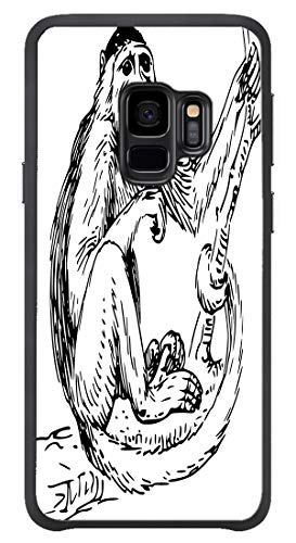 AOFFLY for Samsung Galaxy S9 Only - Monkey Spider Jungle - Shock Absorption Protection Phone Cover Case