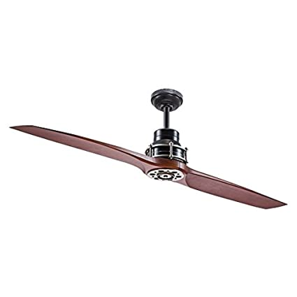 Kichler Lighting 56 In Satin Black With Antique Pewter Accents Downrod  Mount Indoor Ceiling Fan