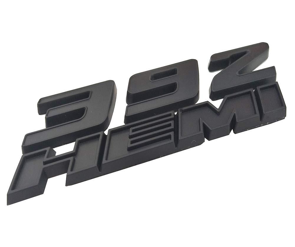 Red Yuauto 2 Pack OEM 392 Hemi Emblem Badge Decal 3D Logo for Dodge Challenger Chrysle 300c 3500 SRT8