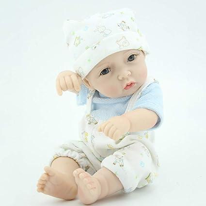 Lifelike 28cm Reborn Baby Girl Infant Doll Newborn Toddler Kid Clothes Model