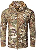 Camo Coll Men's Outerwear Camouflage Hoodie Military Jacket (Army, XL)