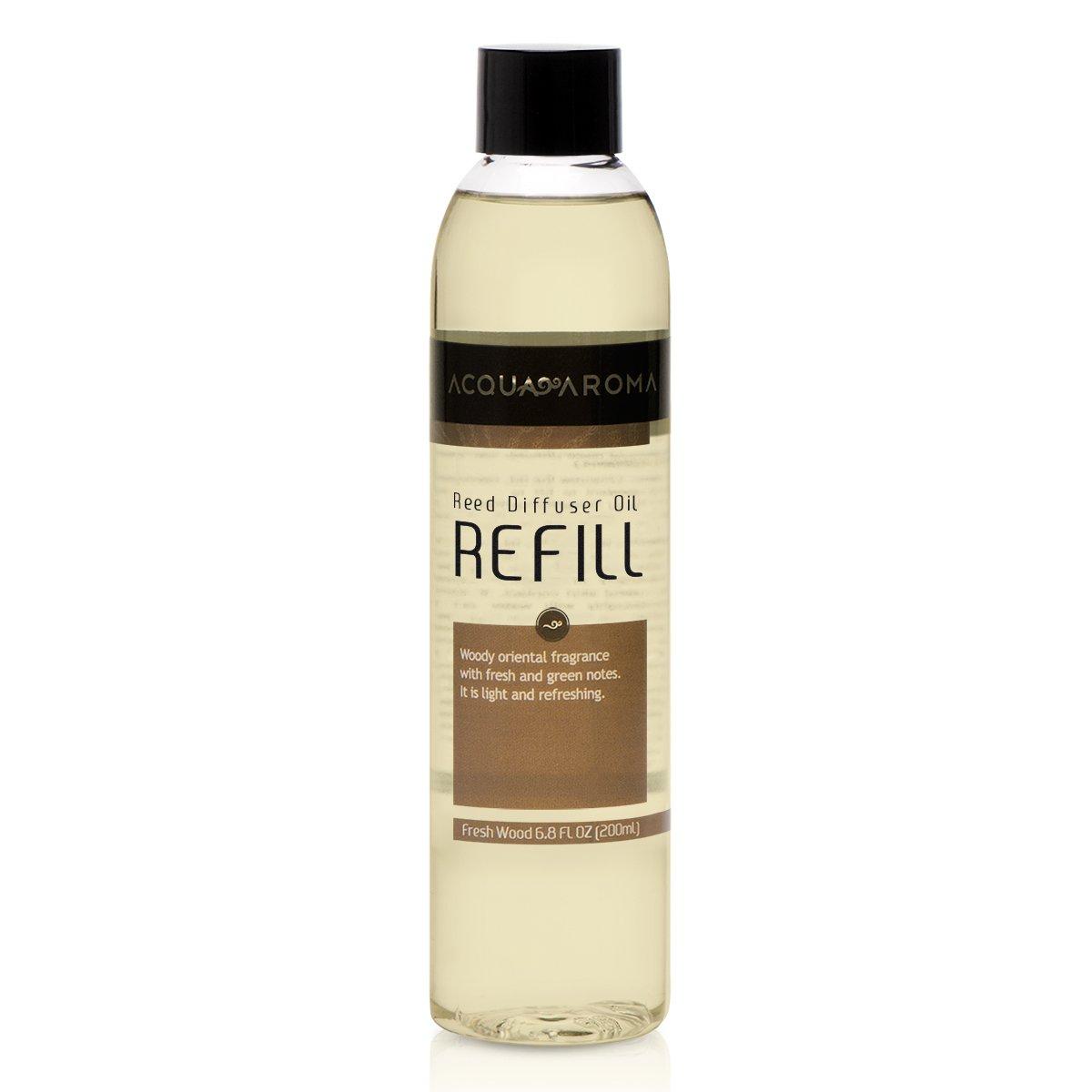 Acqua Aroma Fresh Wood Reed Diffuser Oil Refill 6.8 FL OZ (200ml) Contains Essencial Oils