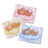 Fairy Baby 3 PCS Cotton Warm Umbilical Cord Unisex Newborn Navel Belt(Bear 3,Fit Waist 15.74''-17.72'')