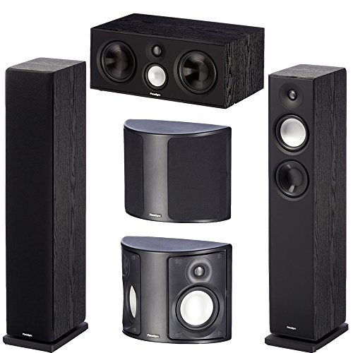Paradigm Monitor v7 Bundle: 2 Monitor 7 v7 Floor Standing Speakers, 2 Surround 3 v7 Rear/Surround Speakers and 1 Center 1 v7 Speaker in Black Ash 2 Way Floor Standing Speaker