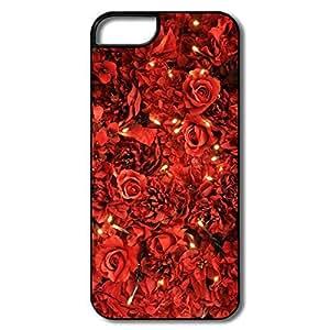 IPhone 6 plus Cases, Red Roses Lights Case For IPhone 6 plus 6 plus - Whiteblack Hard Plastic