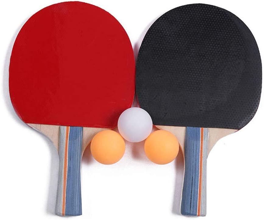 HJX888 Kit de Raquetas Tenis de Mesa, 2 Palas de Ping Pong, 3 Bolas, con Bolso, para Deportes al Aire Libre en Interiores