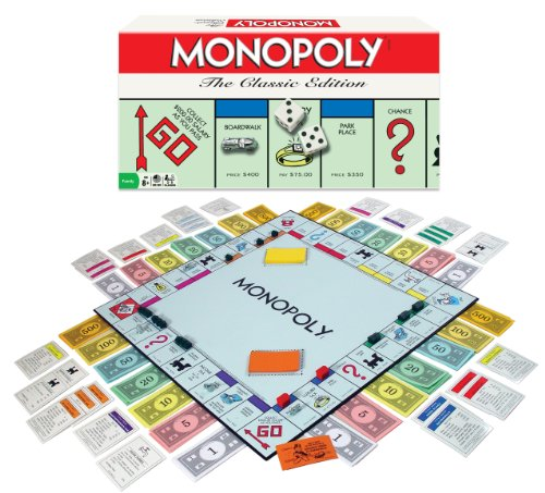 Winning Moves Games Monopoly Board Game The Classic Edition (Wood Monopoly)