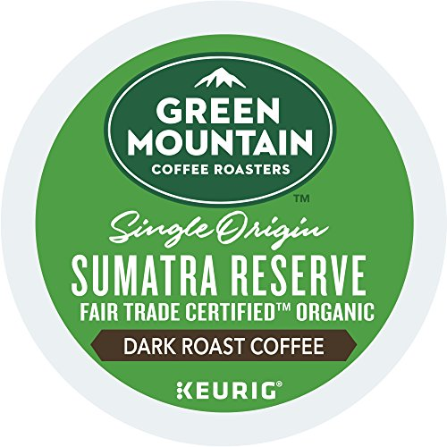 Green Mountain Coffee Roasters Sumatran Reserve Keurig Unique-Serve K-Cup Pods, Dark Roast Coffee, 72 Count (6 Boxes of 12 Pods)