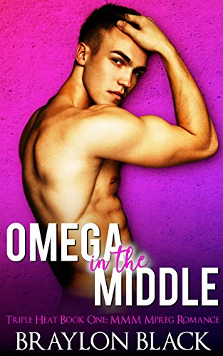 Triple Shifter - Omega in the Middle: A Non-Shifter MMM Mpreg Romance (Triple Heat Book 1)