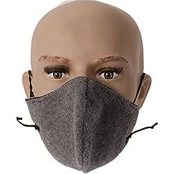 AllerTech Adjustable Arctic Fleece Winter Cold Weather Mask, Effective in Sub-Zero Temperatures, Gray