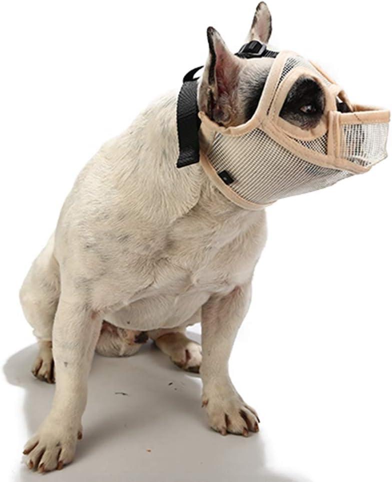 PETEMOO Museruole per Cani dal Muso Corto museruola per Cani Traspirante per Cani Bulldog e Razze dal Muso Corto per mordere la Maschera per Cani da Masticare