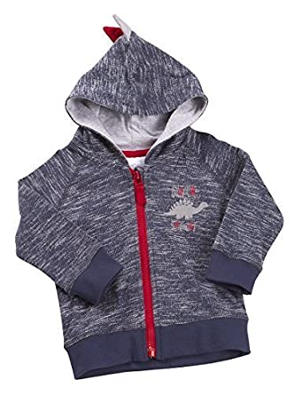 Babies Dinosaur Hoodie with Hood and Back Spike Detail ~ 3-24 Months