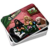 Home of Cocker Spaniel 4 Dogs Playing Poker Photo Tin