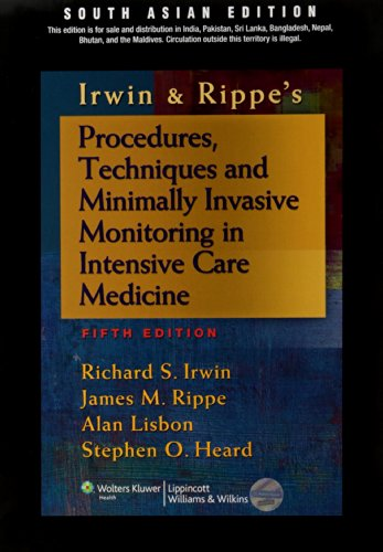 Procedures, Techniques And Minimally Invasive Monitoring In Intensive Care Medicine 5Ed (Pb)