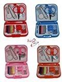 SmartCare Mini Travel Sewing Kit in Storage Case Assorted Colors Set of 4