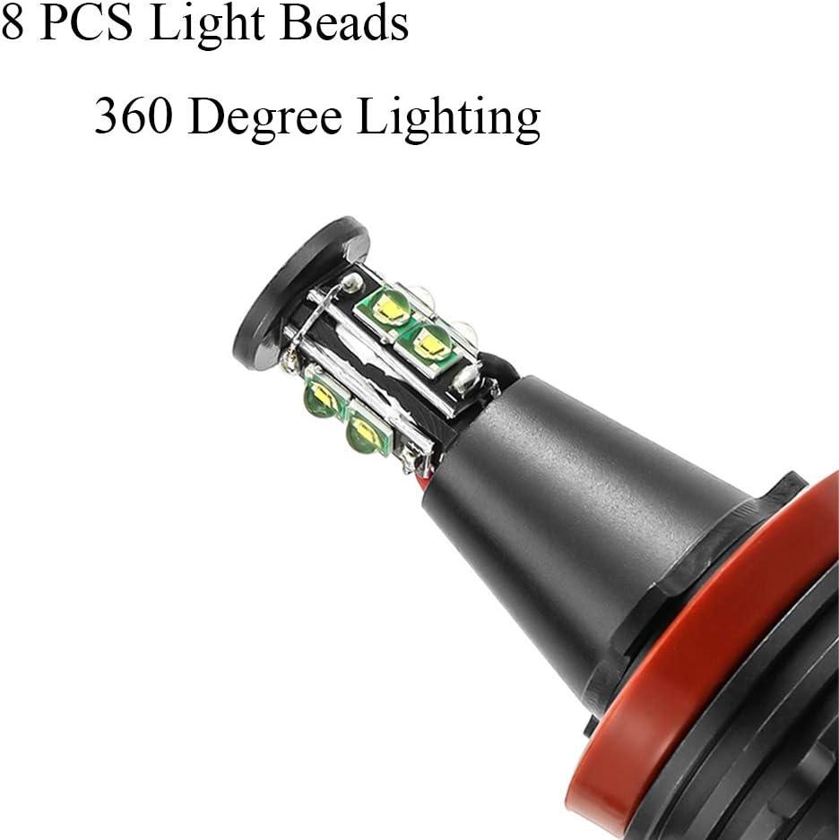40 W H8 Coche Angel Eyes Led Error Free Canbus Holo Ring Light 6000K Faros antiniebla Fabricante de faros para B-M-W E90 E92 E82 E60 X5 X6 2
