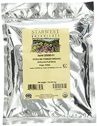 Starwest Botanicals Certified Organic Spirulina Powder, 1 Pound Bulk Bag