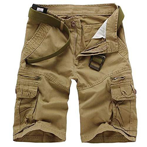 Informales Bolsillos De Cortos Verano Mode Marca Casual Camuflaje Pantalones Niños Beige Con xZ7z7