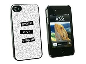 Graphics and More Peace Love Trombone - Snap On Hard Protective Case for Apple iPhone 5 5s - Black - Carrying Case - Non-Retail Packaging - Black