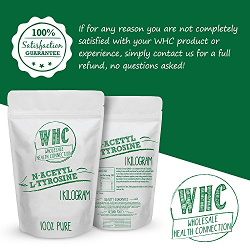WHC N Acetyl L Tyrosine (NALT) Powder | Nootropic | Cognitive Enhancer | Memory | Learning | Focus | Concentration | Boosts Mental and Physical Energy During Sleep Deprivation