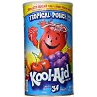Kool-Aid Flavored Drink Mix, Tropical Punch, 2.5 Ounce Canister